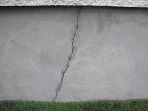 fissure de béton fondation