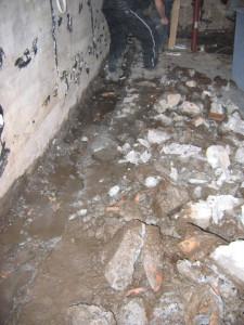 pyrite dans le garage