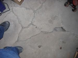 pyrite dans garage